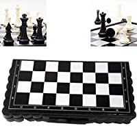 Verlike Chess Sets -Chess Set with Folding Chess Board Case Parent-Child Educational Toy Family Game