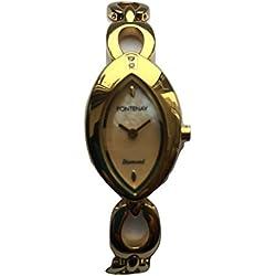 Fontenay Damen-Mother of Pearl Diamant Analog Quarz Armband Armbanduhr RRP 110.00erhältlich bei 50% Discount.