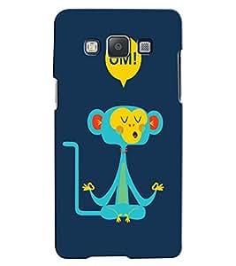 Citydreamz Monkey/Funny/Cartoon Hard Polycarbonate Designer Back Case Cover For Samsung Galaxy E5