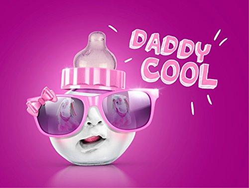 Diese-Klappkarten 3D Suncard Daddy Cool Girl 3D Pop-Up Karte | mit Sonnenbrille | Lustig | Witzig | Geburt | Glückwunschkarte mit Umschlag