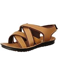 Earton Men's Brown Sandals & Floaters