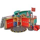 Simba 109258282 - Feuerwehrmann Sam Neue Feuerwehrstation zum Aufklappen mit Figur