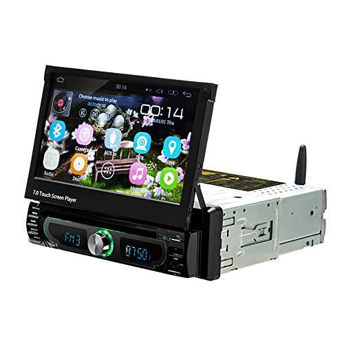 LYXLQ Auto DVD, 16G KörperSpeicher 4 Kern CPU Prozessor automatische Teleskop 7 Zoll kapazitiven Bildschirm MP5 Auto Bluetooth Player DVD Navigation integrierte Maschine Umkehr Priorität - Zone-empfänger-bluetooth -
