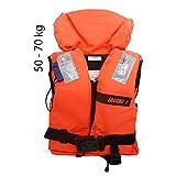 Lalizas Feststoff-Rettungsweste 100 N, CE ISO 12402-4-zertifiziert (2.2 Für Erwachsene - Gewicht 50-70 kg)