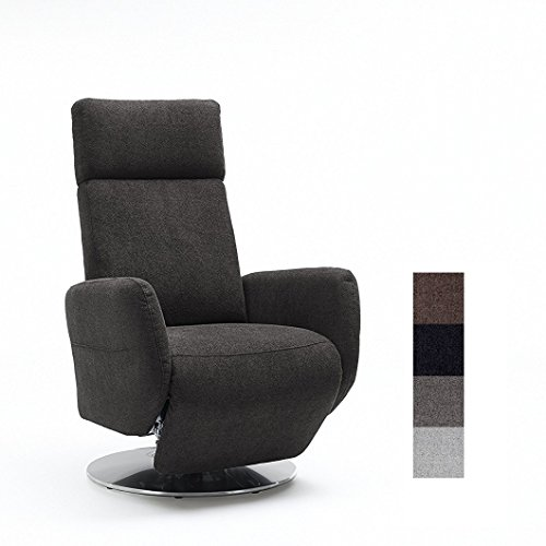 Cavadore TV-Sessel Cobra / Fernsehsessel mit Liegefunktion, Relaxfunktion / Stufenlos verstellbar /...