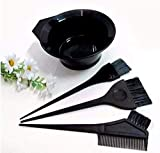 Fllik Set of 4 Pcs Brushes with Bowl for Hair Coloring for Dye