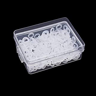 Lvcky 250pcs Clear Rubber O-Ring Rubber Keyboard Dampeners with Plastic Storage for Mechanical Keyboard Cherry MX Key Switch
