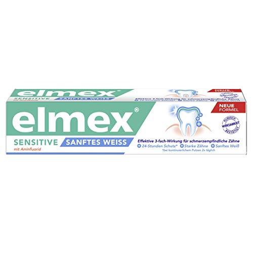 ELMEX Sensitive plus sanftes Weiß Zahnpasta, 3er Pack (3 x 75 ml)