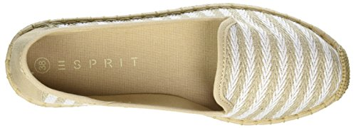 Esprit Ines Stripes So, Espadrilles Femme Beige (260 Light Taupe)