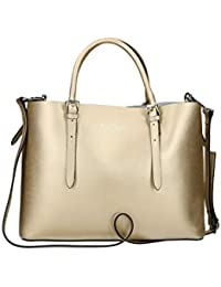 Bolsa mujer shopper a mano PIERRE CARDIN oro cuero MADE IN ITALY N1058
