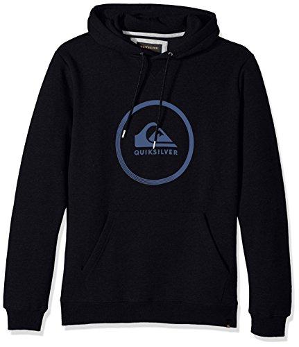 Quiksilver Herren Big Logo Kapuzenpullover Pullover, Medium, Black