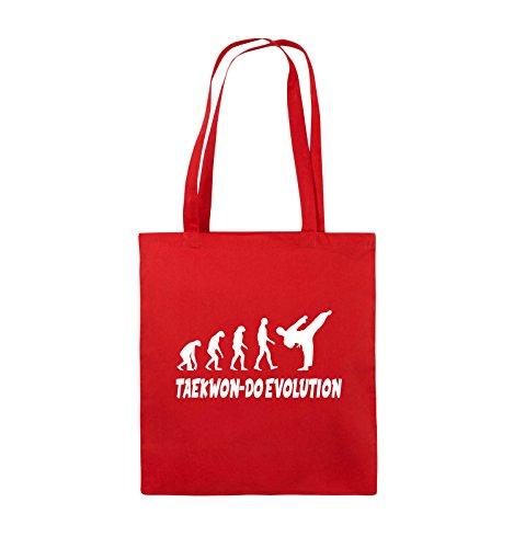 Weiss Henkel TAEKWON Bags DO lange Jutebeutel 38x42cm EVOLUTION Rot Comedy Farbe Schwarz Pink Y7fqwq