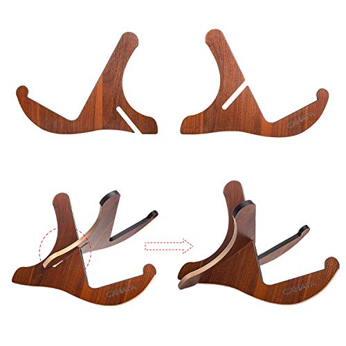 CAHAYA Guitar Stand Wooden Acoustic Guitar Stand Musical Detachable Instrument with Y Shaped Pieces for Elctric Classical Guitar