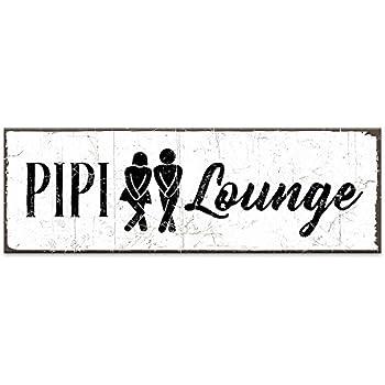 vintage shabby schild dekoschild t rschild pipi lounge grau toilette wc holzschild. Black Bedroom Furniture Sets. Home Design Ideas