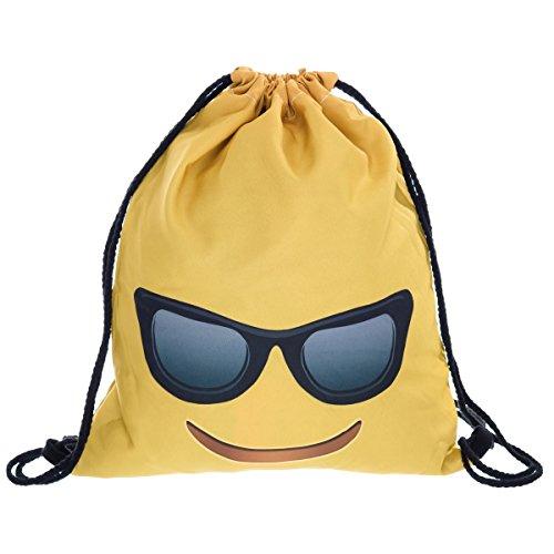 Imagen de fullprint gimnasio nadar escuela deporte cincha saco bolsas  hipster emoji sunglasses [010]