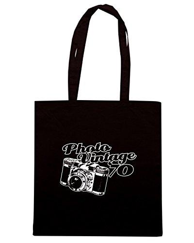 T-Shirtshock - Borsa Shopping T0148 Photo vintage vintage Nero