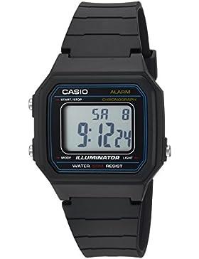 Casio Hombre 'Classic' resina de cuarzo Casual reloj, color: negro (modelo: w-217h-1avcf)
