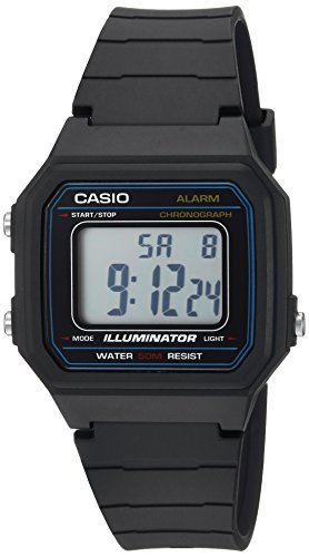 Casio Herren Armbanduhr 'Classic' Kunstharz Casual Quarz, Farbe: Schwarz (Modell: w-217h-1avcf) (Casio Classic Schwarz)