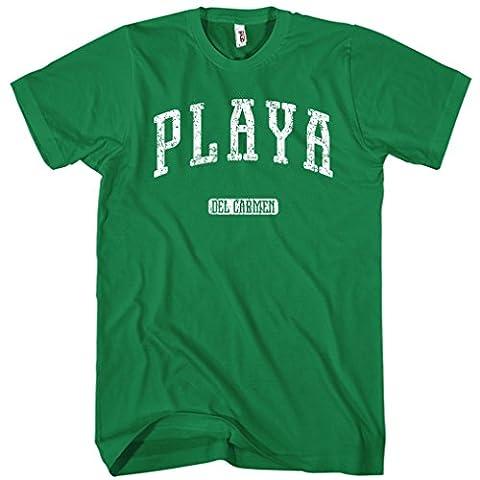Smash Transit Men's Playa del Carmen Mexico T-shirt - Kelly Green, Large