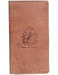 Style98 Tan Stitched Leather Passport Pouch||Slim Travel Wallet||Passport Wallet||Passport Holder