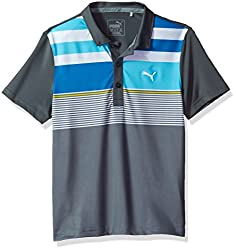 Puma Golf 2017 Boy 'S Road Map Asym Polo, Leise Schatten, Xs