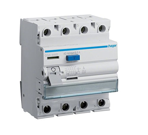 Hager CGA440D FI-Schalter 40A 500mA A-Typ 4-polig (40 Wasser-heizung-gas)