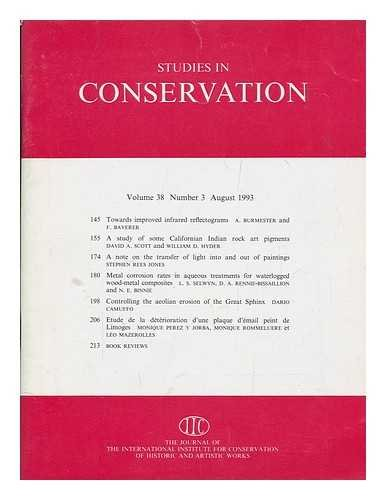 Studies in conservation : the journal of the International Institute for the Conservation of Historic and Artistic Works; Volume 38, Number 4, November 1993