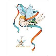Im 5er Set: Romantische Engels Grußkarte/ Liebeskarte: Amore mio auch als Valentinskarte