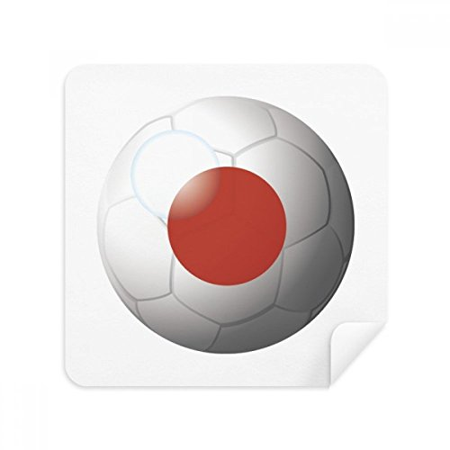 DIYthinker Japan National Flag-Fußball-Fußball-Glas-Putztuch Telefon Screen Cleaner Suede Fabric 2Pcs Flag Telefon