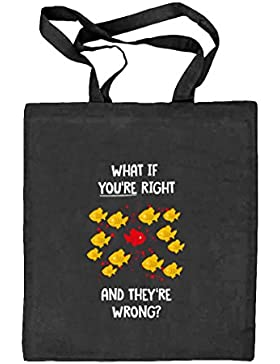 What If You're Right Poster, Natur Stoffbeutel Jute Tasche (ONE SIZE)