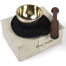 Boxed piccolo ottone campana tibetana, set regalo–Meditazione, guarigione e spazio per la pulizia–Spedizione gratuita–Commercio Equo