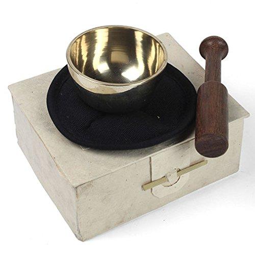 Boxed piccolo ottone campana tibetana, set regalo-Meditazione,