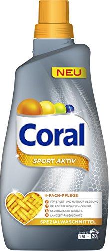 Coral flüssig Feinwaschmittel Sport Aktiv 40 WL 2er Pack (2 x 20 WL)