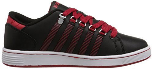 K-Swiss 8110 Lozan Sneaker (Big Kid) Blacks/Mars Red