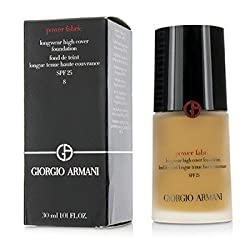 Giorgio ArmaniPower Fabric Longwear High Cover Foundation SPF 25 - 8 (Tan, Warm)30ml/1oz