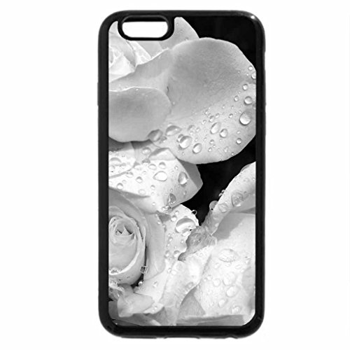 iPhone 6S Case, iPhone 6 Case (Black & White) - Bejeweled Roses (Schwarz Bejeweled)