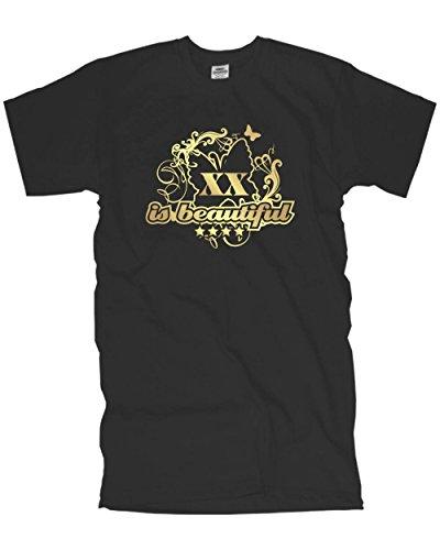 18 20 30 40 50 60 70 is beautiful T-Shirt mit deiner Wunschzahl bedruckt deine Jahr deine Zahl auf einem Geburtstags Funshirt große Größen (FSG022) Mehrfarbig
