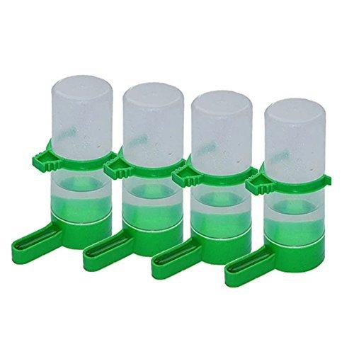 Patgoal-Mangiatoie-per-uccellini-in-plastica-per-semi-con-distributore-dacqua-Trasparente-set-da-4