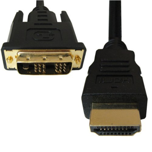 High Quality HDMI-DVI 18+1 polig  Stecker vergoldet Verbindungskabel 2,0m High-ul-audio
