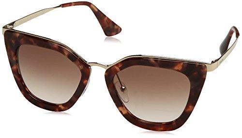 Prada Damen 0PR53SS UE00A6 52 Sonnenbrille, Braun (Spotted Brown Pink)