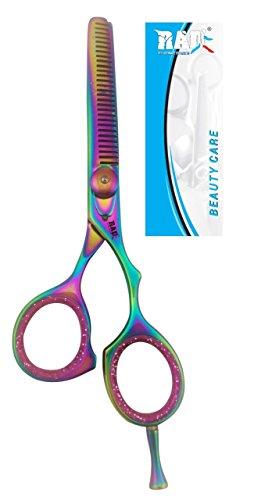 Professionelle Effilierschere Haar Zähne Schneiden und für Styling Trimming Fellpflege Cutting Haar Bart Schere 5,5'Höchste Qualität Salon für Barbiere, Bart Gestaltung oder für Zuhause, um eigene Schnurrbart