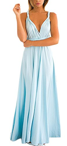 Mesdames Robes Longues Femme Dos Nu Bustier Plage Transparentes D'Été Vintage Pastel Élégantes Robes De Plage Robes D'Été Bleu