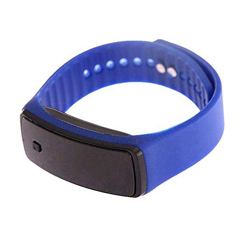 SAMGU LED Watch - Unisex Gomma Data di sport bracciale Silicone digitale Moda - deep (Rettangolare Bracciali)