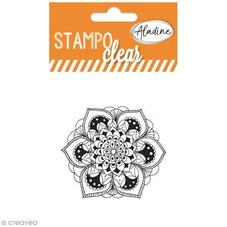 Aladine 04385 Stampo Clear Individuel Mandala 1