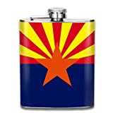 Best Camping Arizonas - Arizona State Flag Stainless Steel Flask Wearproof 7OZ Review
