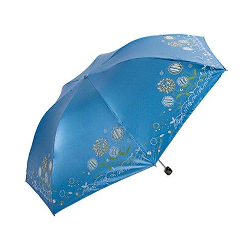 Leicht Reisen Löwenzahn Umbrella blau Compact praktischem Schirm Carry