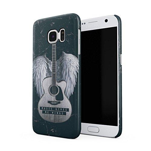 Punk-rock-tasten (Music Gives Me Wings Dünne Rückschale aus Hartplastik für Samsung Galaxy S7 Handy Hülle Schutzhülle Slim Fit Case cover)