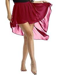 inhzoy Femmes Dames Asymétrique Jupe de Danse Ballet Chiffon Skirt Ballet Danse  Filles Justaucorps de Gymnastique fa0592badcf
