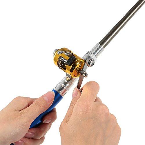 Lixada Caña Carrete Combo Kit Set Mini Telescópica Portátil Pocket Pluma Caña de Pescar Polo + Carrete