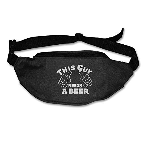 Waist Bag Fanny Pack This Guy Needs A Beer Pouch Running Belt Travel Pocket Outdoor Sports